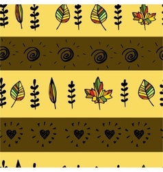 Autumn pattern with leaves vector