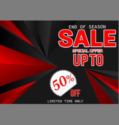banner sale special offer black friday abstract vector image