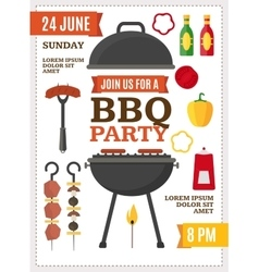 Barbecue and Grill Party Poster vector