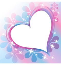 Beautiful Abstract Background with Heart vector image