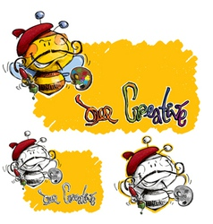 Bee Craetive vector image