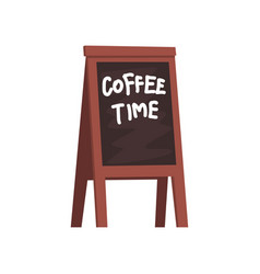 Blackboard with inscription coffee time wooden vector