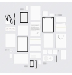 Blank corporate style elements big set vector