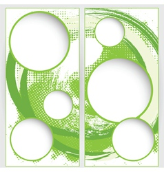 blank round web template on green grunge vector image