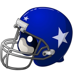 Blue Football Helmet vector image vector image