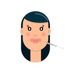 botox lips vector image