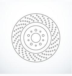 Brake disc icon vector