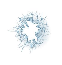 Broken glass cracked window texture realistic vector