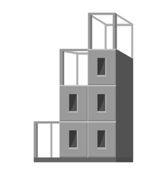 Building a house icon gray monochrome style vector image