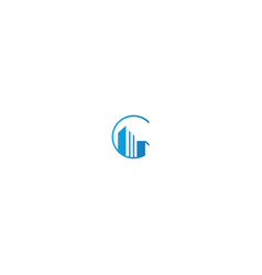 building realty company logo vector image