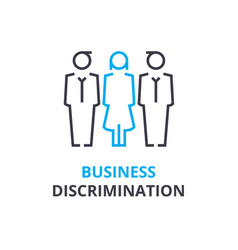Business discrimination concept outline icon vector
