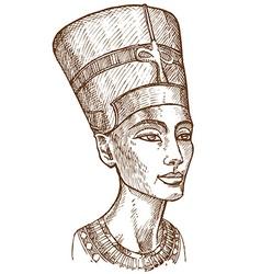 Bust of Nefertiti vector