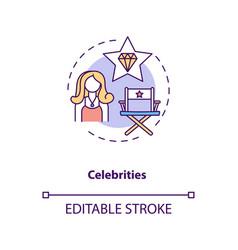 Celebrities concept icon vector