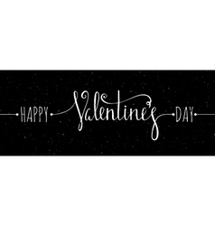 Chalk textured Happy Valentines day inscription vector image