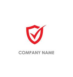 check list shield safe logo vector image