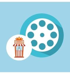 cinema movie ticket office film reel graphic vector image