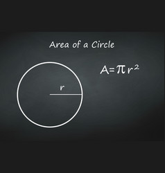 circumference a circle on chalkboard template vector image