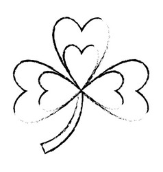 clover three leaves luck symbol vector image