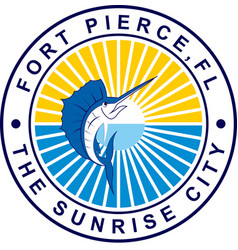 Coat of arms of fort pierce in florida of united vector
