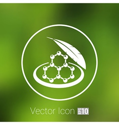 Color molecule icons set with shadow isolated vector image vector image