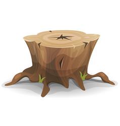 Comic tree stump vector