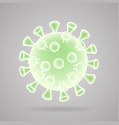 coronavirus virion virus realistic 3d design vector image