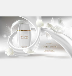 Cosmetic banner for promotion your brand vector