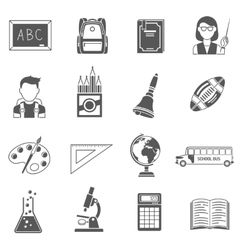 Education Icons Black Set vector