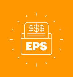 Eps earnings per share financial outline icon vector
