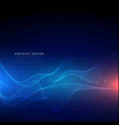 flowing particles technology digital cyber vector image