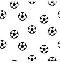football ball seamless pattern background vector image