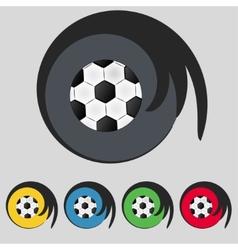 Football ball sign icon Soccer Sport symbol Set vector image