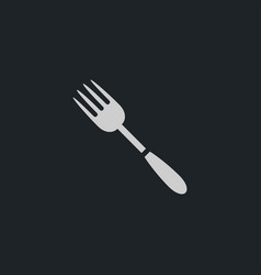 fork icon simple vector image
