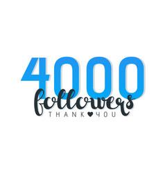 Four thousand followers banner vector