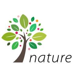 Fruitful tree logo vector