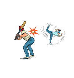 game baseball the pitcher throws ball vector image