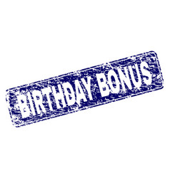grunge birthday bonus framed rounded rectangle vector image