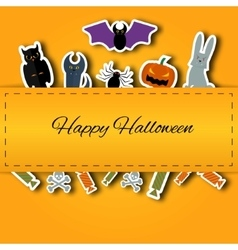 Happy Halloween background Flat vector