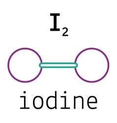 I2 iodine molecule vector