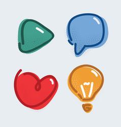 icon set like play vector image