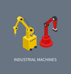 industrial machines using for smart production vector image