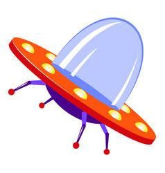 Invasion ufo icon cartoon style vector