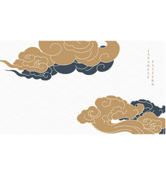 japanese background with chinese cloud decoration vector image