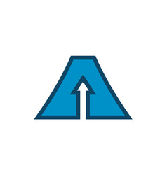 letter a up arrow logo icon design concept vector image