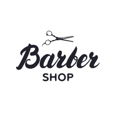 Logotype label badge for barbershop hair salon vector