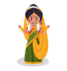 Mother yashoda cartoon character vector