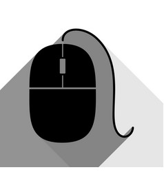 mouse sign black icon with vector image
