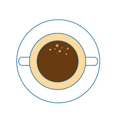 Mug coffee symbol vector