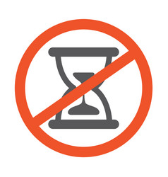 no hourglass symbol design forbidden vector image
