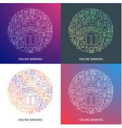 online banking concepts vector image